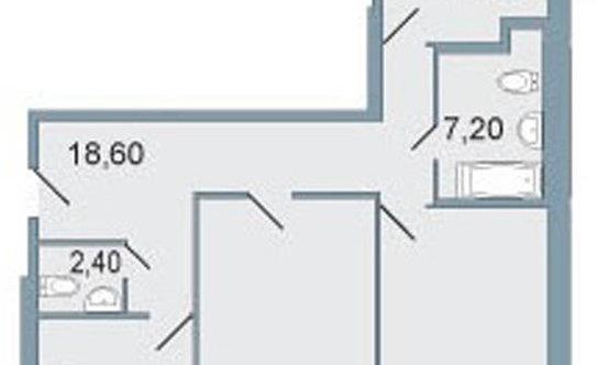 """14 779 256 руб. - трехкомнатная квартира 103,9 м? в ЖК """"Четыре горизонта"""" - продажа квартир в Санкт-Петербурге на Яндекс.Недвижи"""