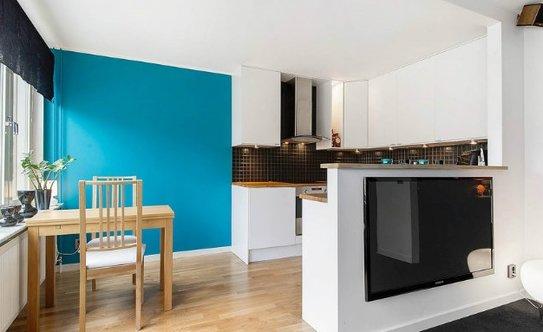 Дизайн однокомнатной квартиры студия 35 кв.м фото
