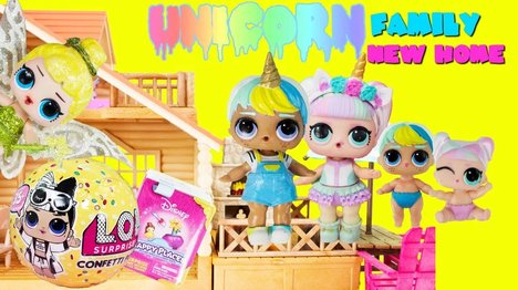 LOL Surprise Unicorn Family New Home Unicorn Boi, Unicorn, LOL Tinker bell Toys Surprises