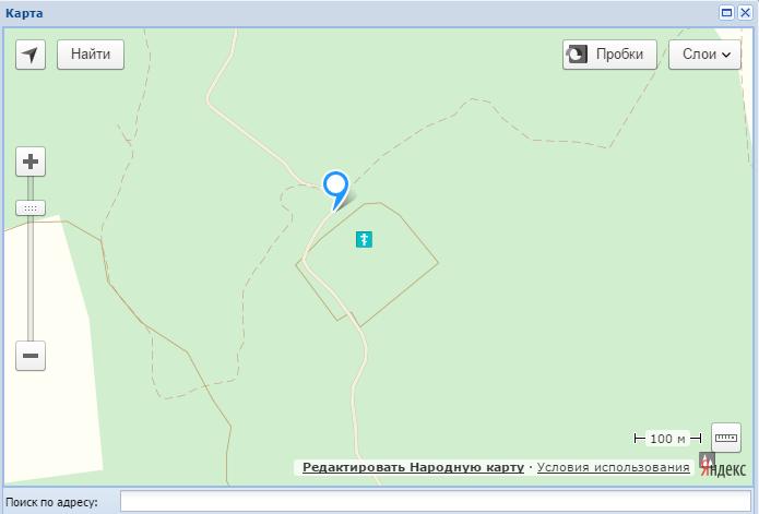 Как найти место по на карте
