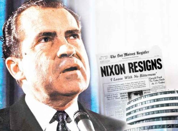 a history of the watergate political scandal and the constitutional crisis of the nixon administrati Nixon's resignation and gerald ford's ascension to the white house completed a complex constitutional drama that involved all three branches of government, along with agencies like the cia, fbi, and justice department.