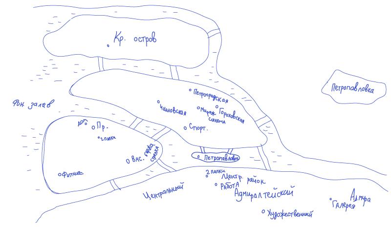Карта Петербурга глазами его жителя