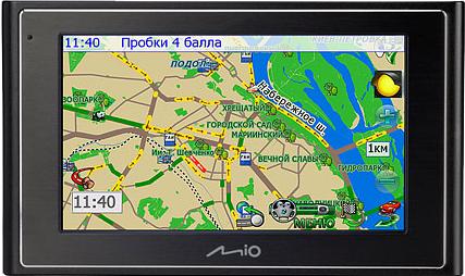Яндекс.Пробки в навигаторе MIO 330