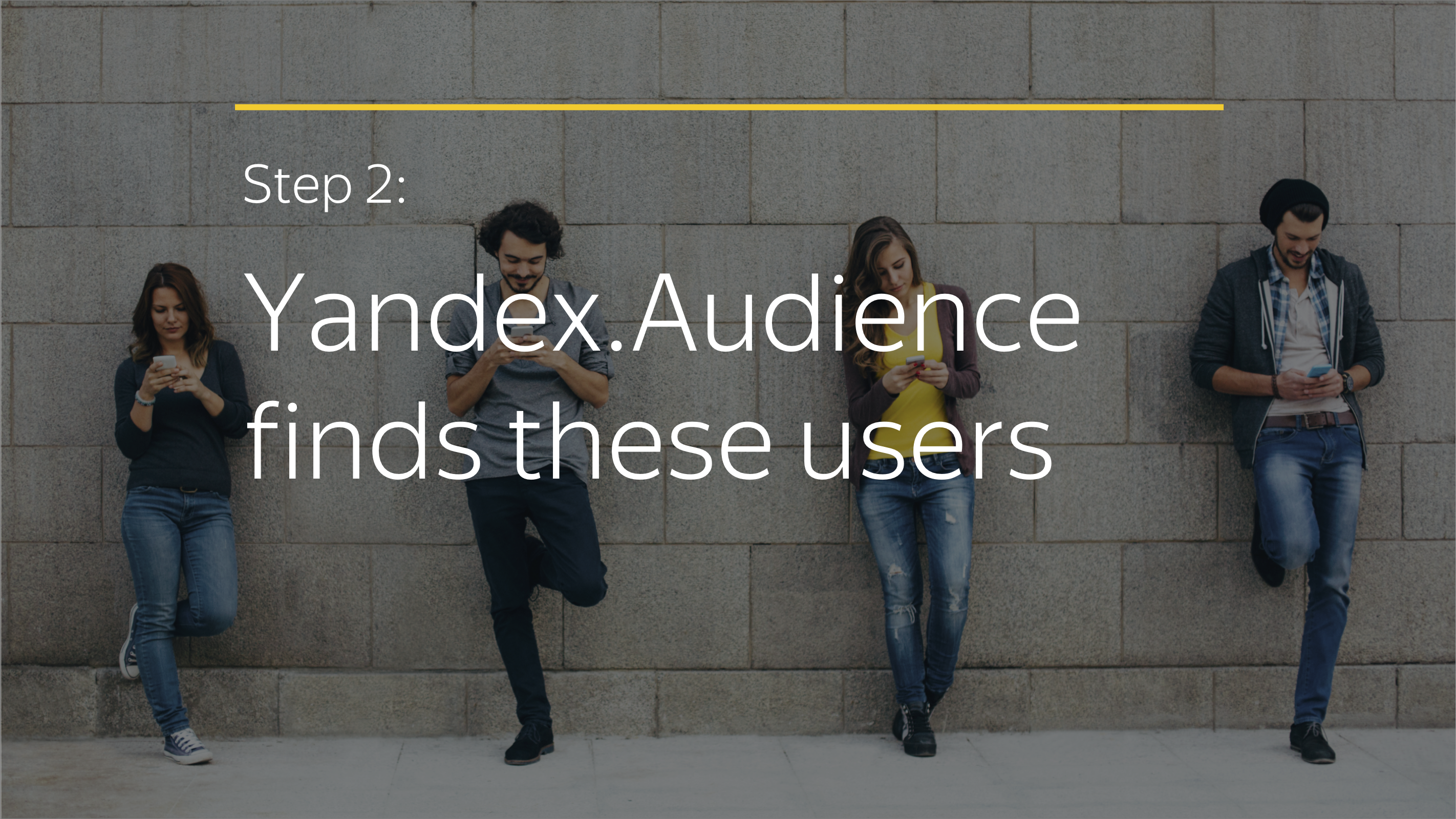 Step 2: Yandex.Audience finds these users
