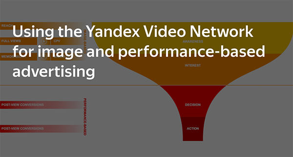 Brand awareness and performance-based campaigns in the Yandex Video Network
