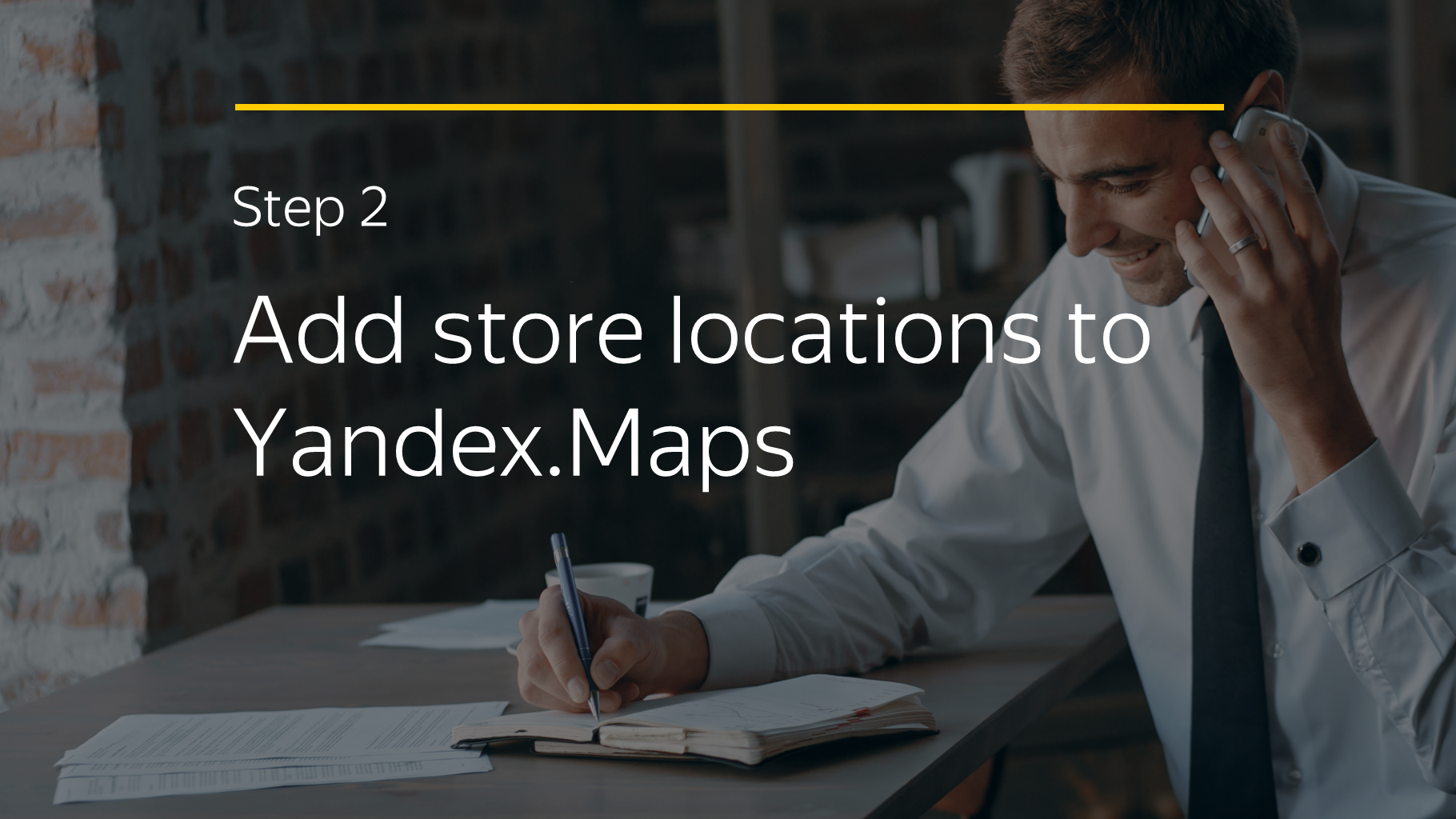 Step 2 Add store locations to Yandex.Maps
