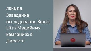 Заведение исследования Brand Lift в Медийных кампаниях в Директе
