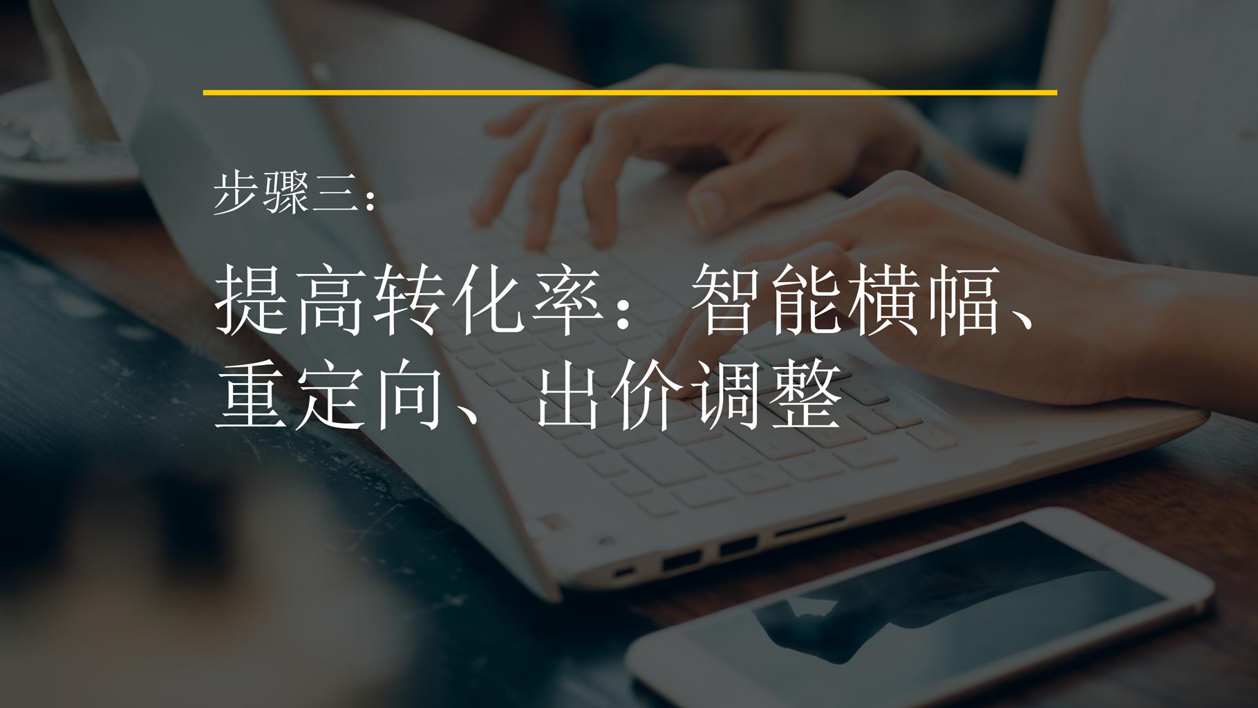 步骤三: 提高转化率:智能横幅、 重定向、出价调整