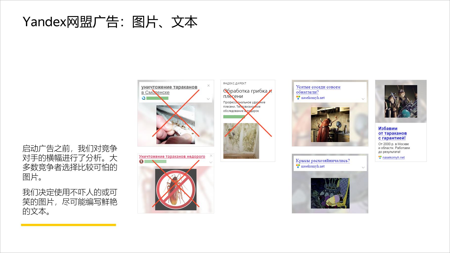 Yandex网盟广告:图片、文本