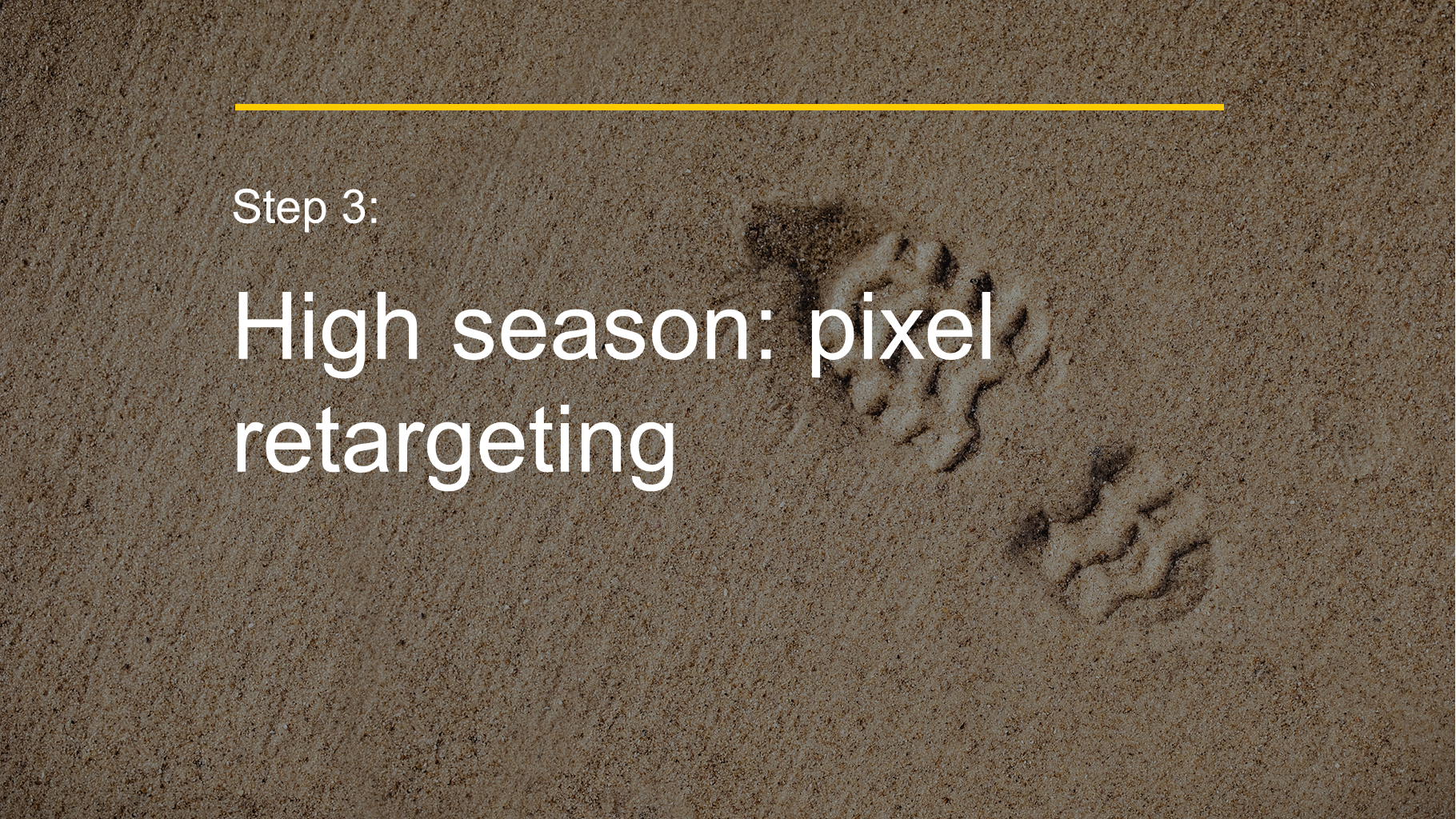 Step 3: High season: pixel retargeting