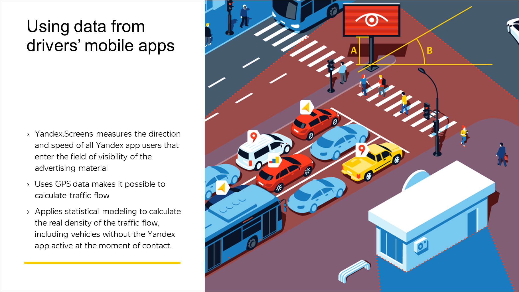 Using data from drivers' mobile apps