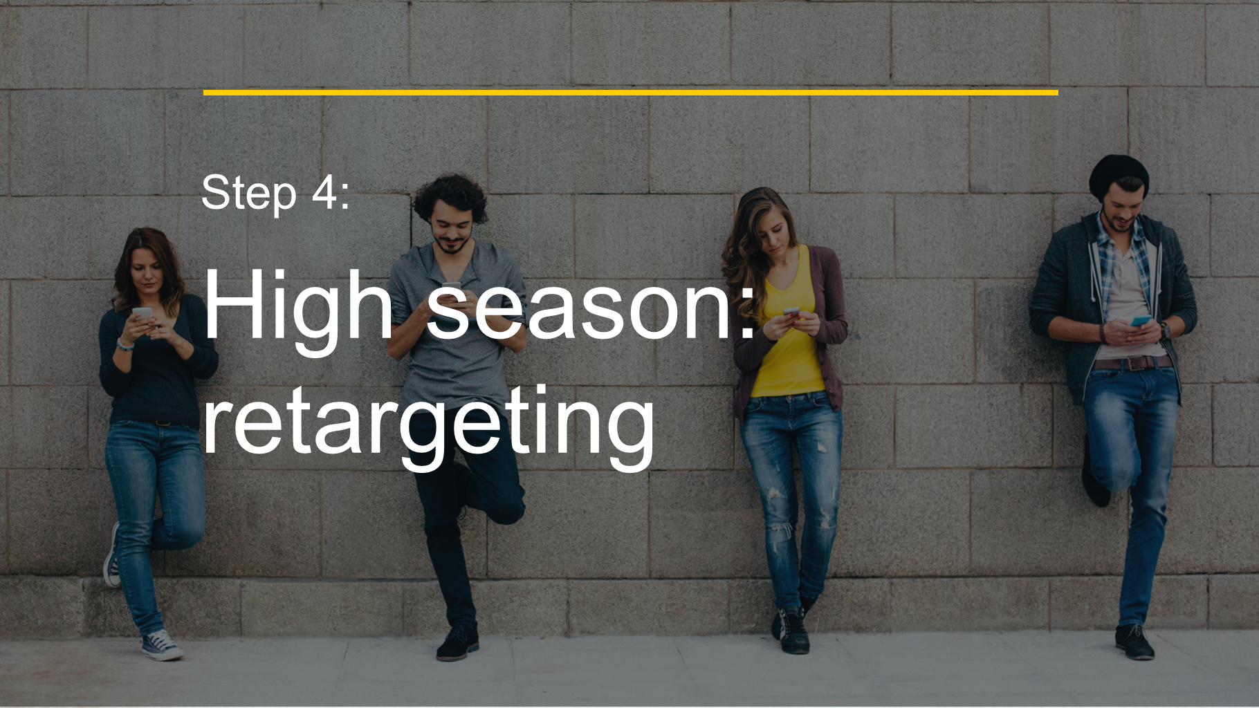 Step 4: High season: retargeting