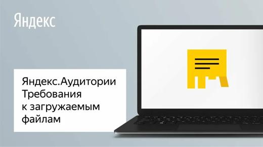 Яндекс.Аудитории. Требования к загружаемым файлам