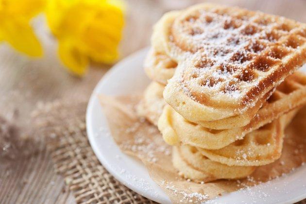 Сердечки вафельнице рецепт фото