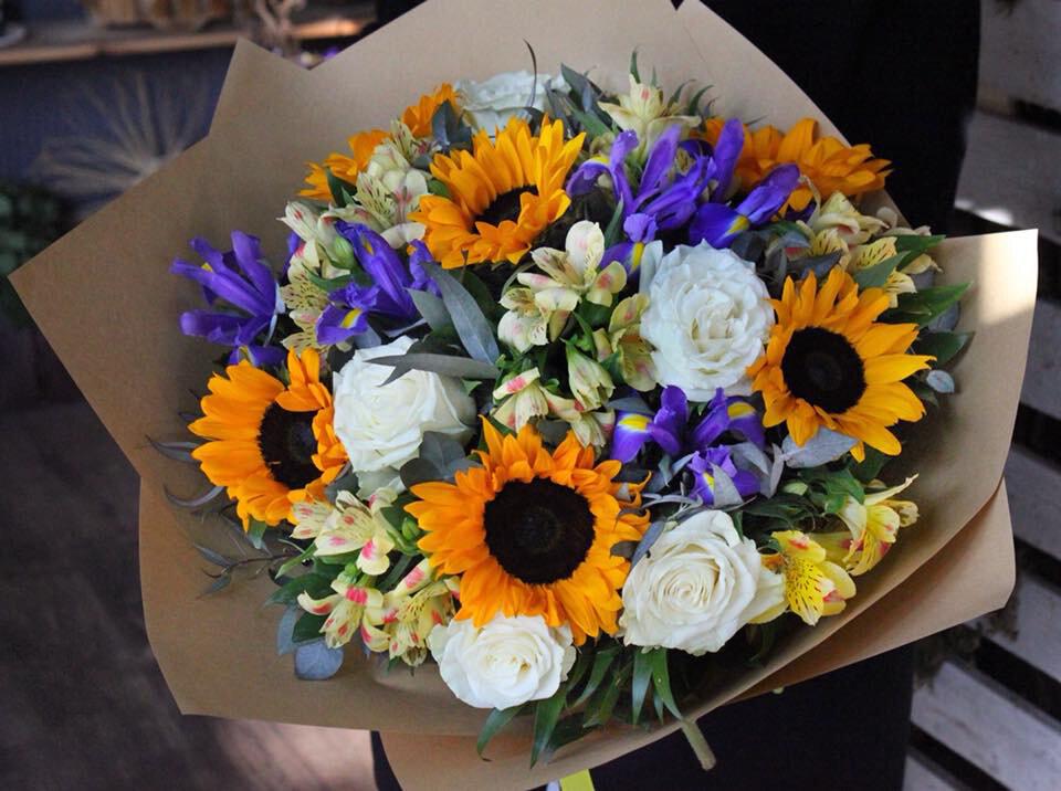 Желтые букет, доставка цветов в городе канаш