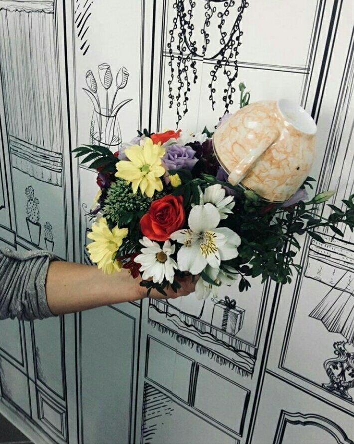 Цветы, лютик букет пушкин