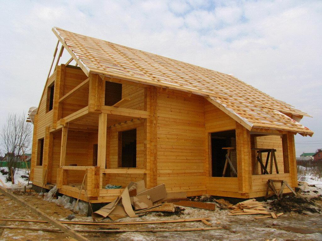 Поэтапное строительство деревянного дома фото