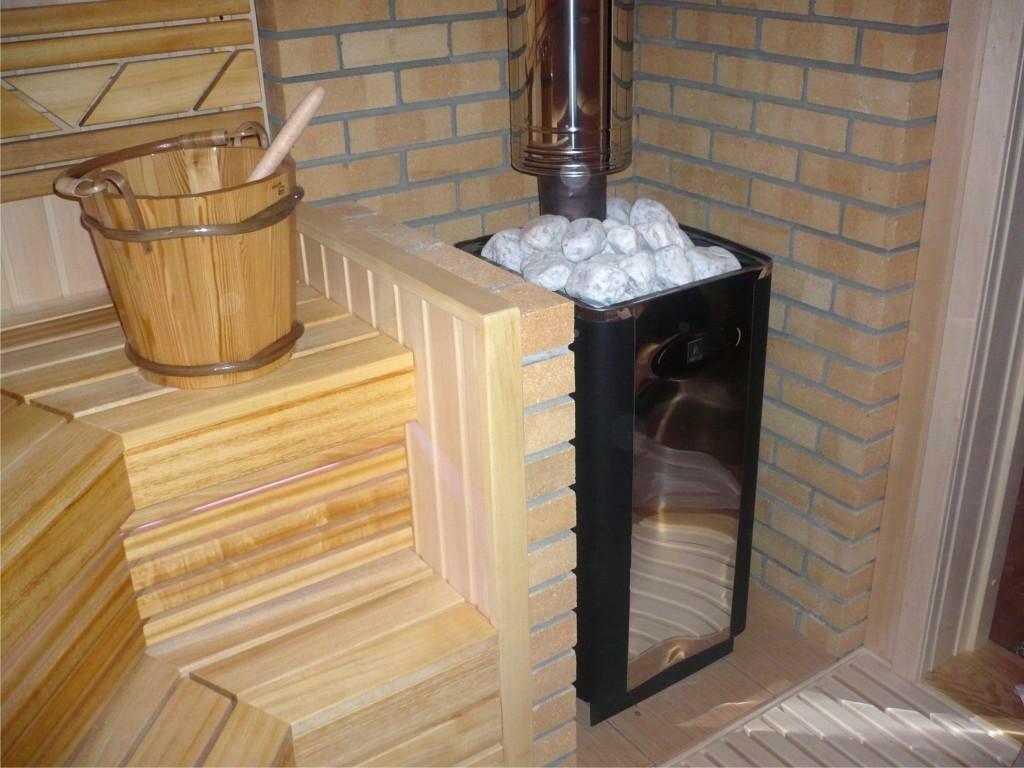 Установка печи в бане картинки