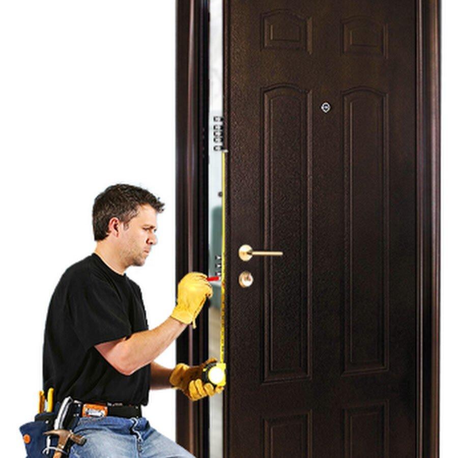 Установка входной двери с картинками