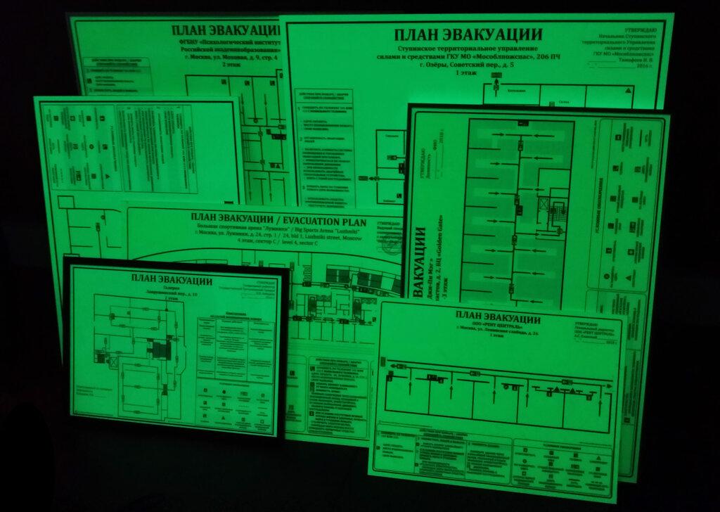 ваших фотолюминесцентное покрытие для схем эвакуации ряда номеров открывается