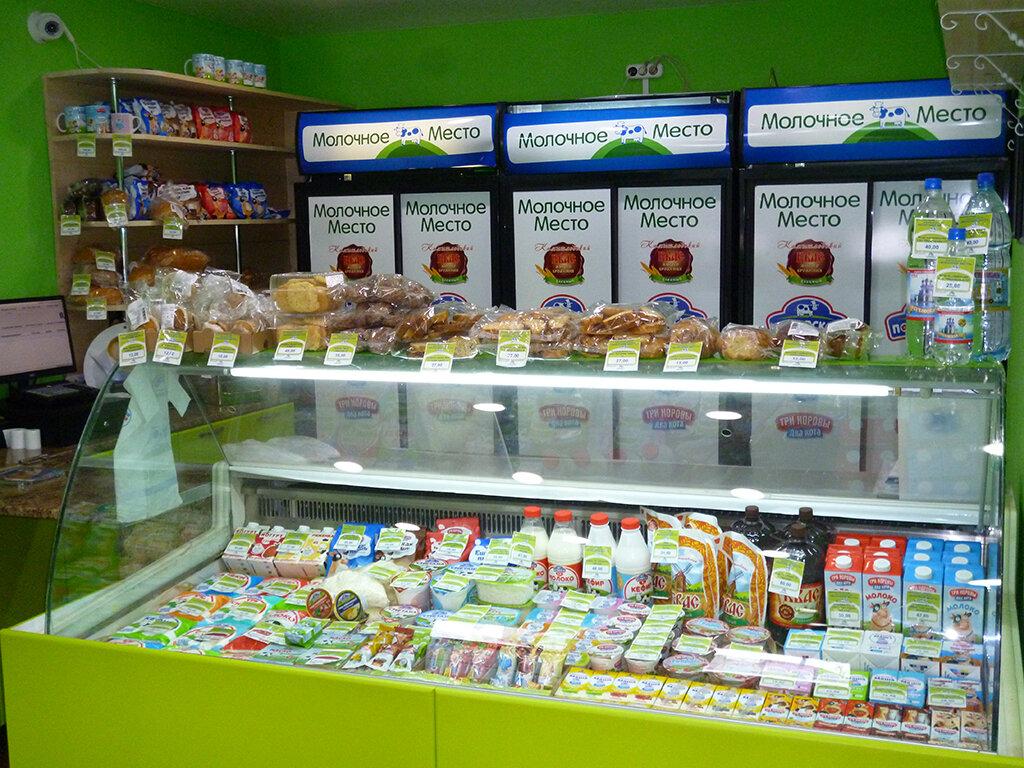 фото витрины магазинов молочной продукции