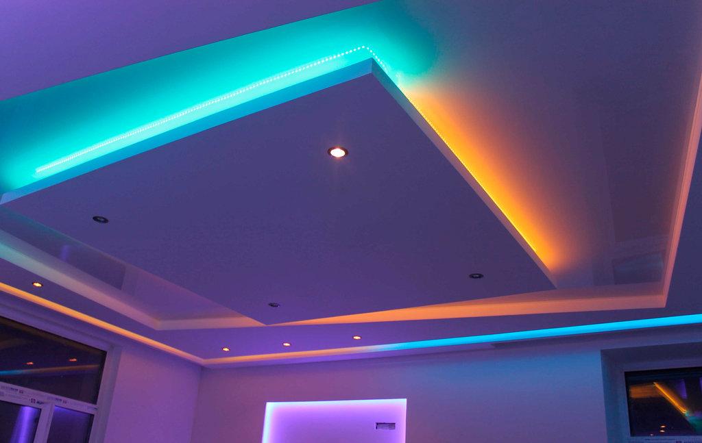 стоимость двухуровневого потолка из гипсокартона