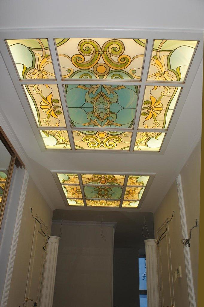 витражи потолок фото стиль кантри прекрасно