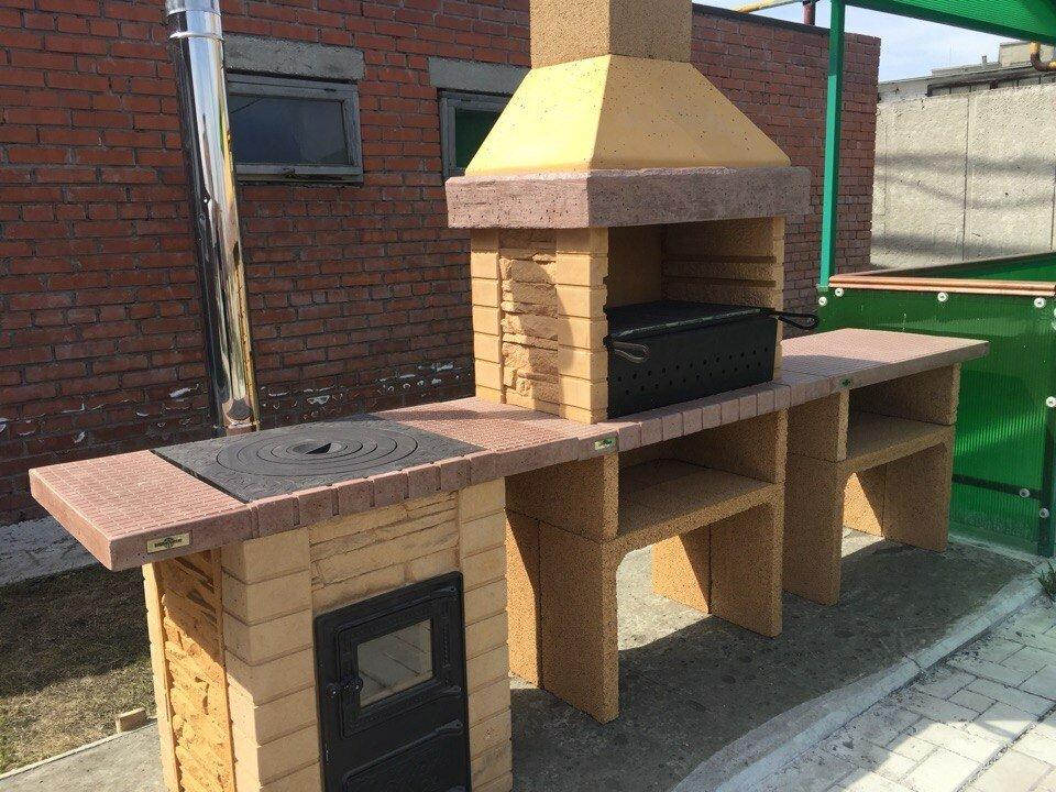 Барбекю из бетона купить в новосибирске в какой пропорции делать цементный раствор