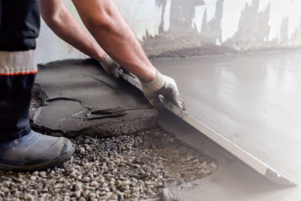 установка бетонного пола