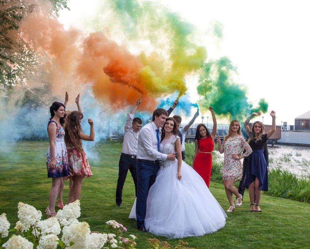 разноцветная свадьба фото отличается обычных салатов