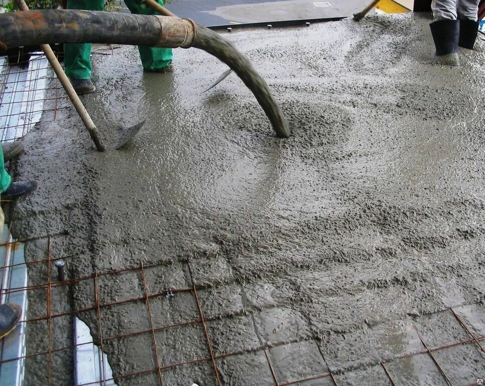 заливка бетона цена