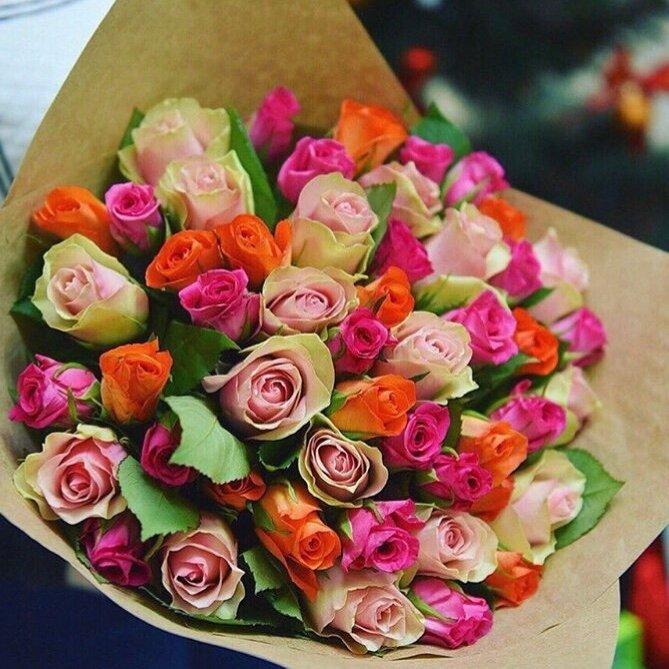 Свадебные, заказ цветов розы в одинцово
