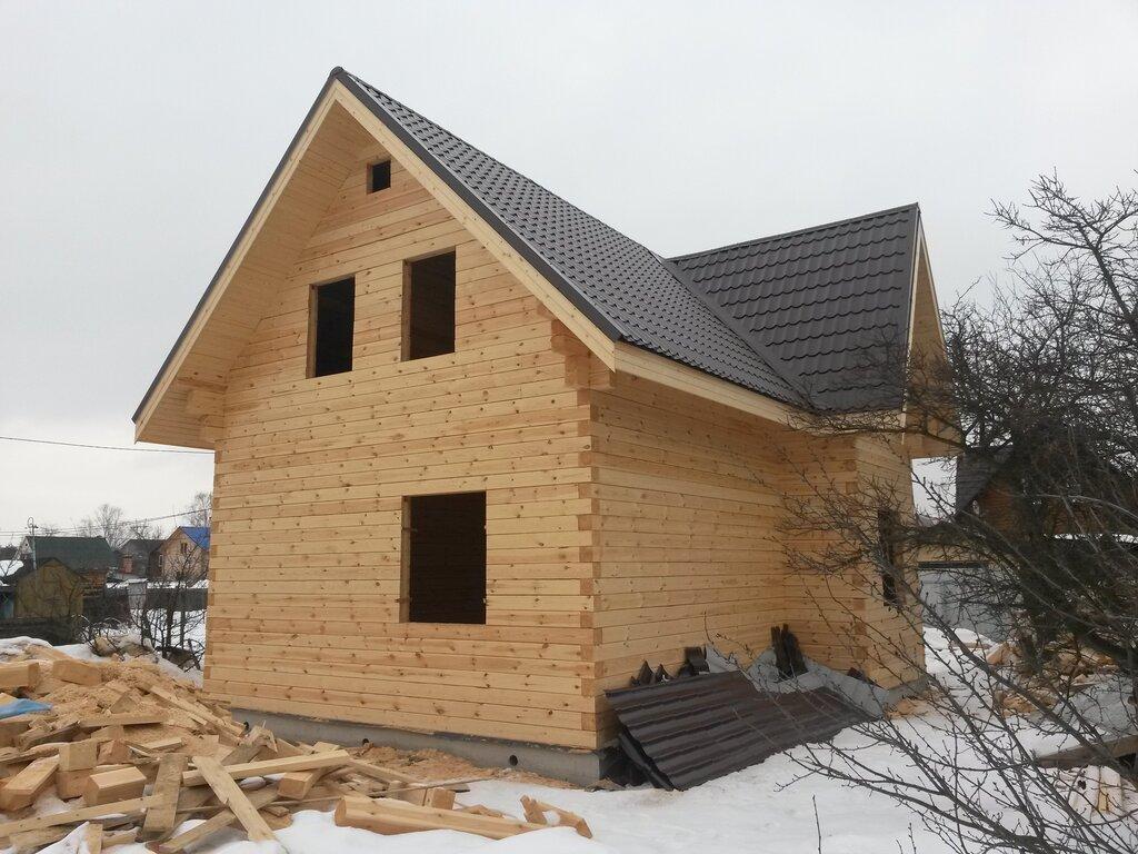 Фото дачных домов из строганного бруса