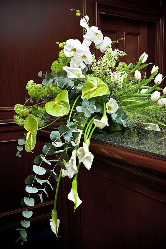 Антуриум зеленый букет невесты фото, зелень букете купить