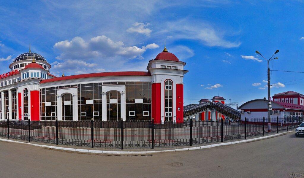 Панорама железнодорожный вокзал — Железнодорожный вокзал — Саранск, фото №1