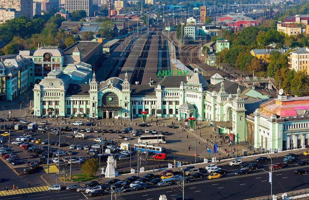 Белорусский вокзал, железнодорожный вокзал, площадь Тверская ...