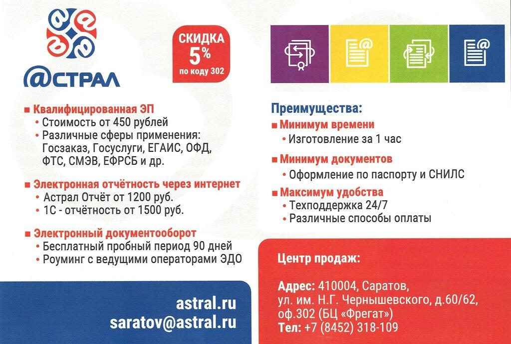 Астрал саратов электронная отчетность управляющий в ооо ип регистрация