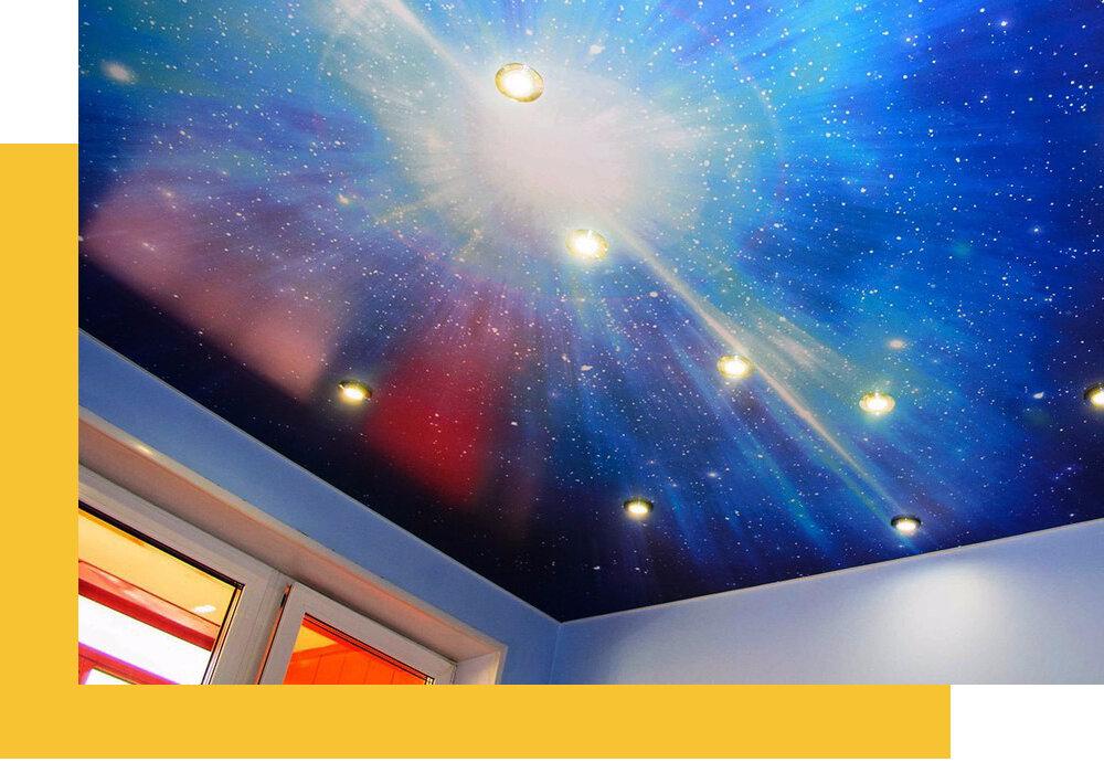 натяжные и подвесные потолки — Натяжные потолки Гомель — Гомель, фото №1