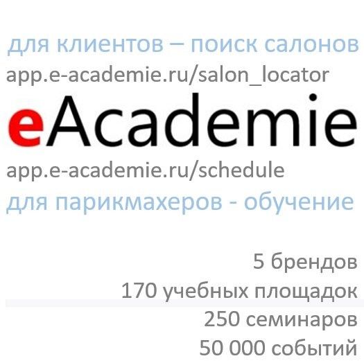 обучение мастеров для салонов красоты — E-Academie.ru каталог № 1 международных курсов для парикмахеров — Москва, фото №1