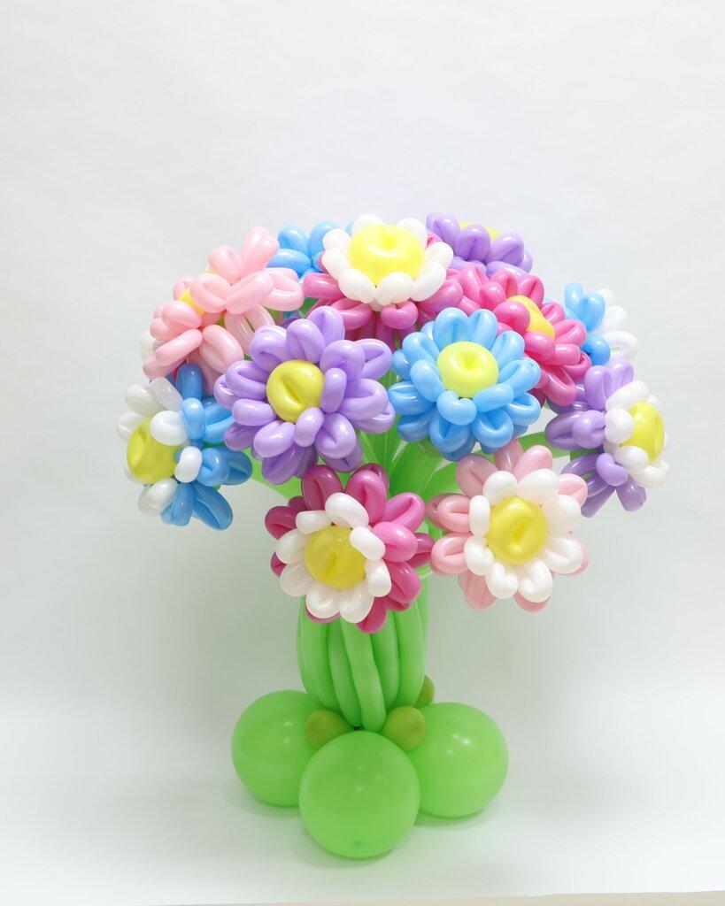 Цветы из шариков воздушных картинка