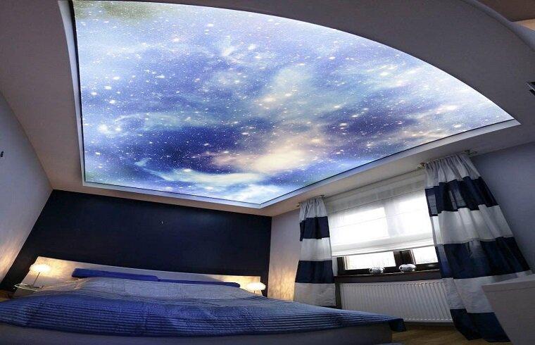 натяжной потолок звездное небо фотографии нарушении