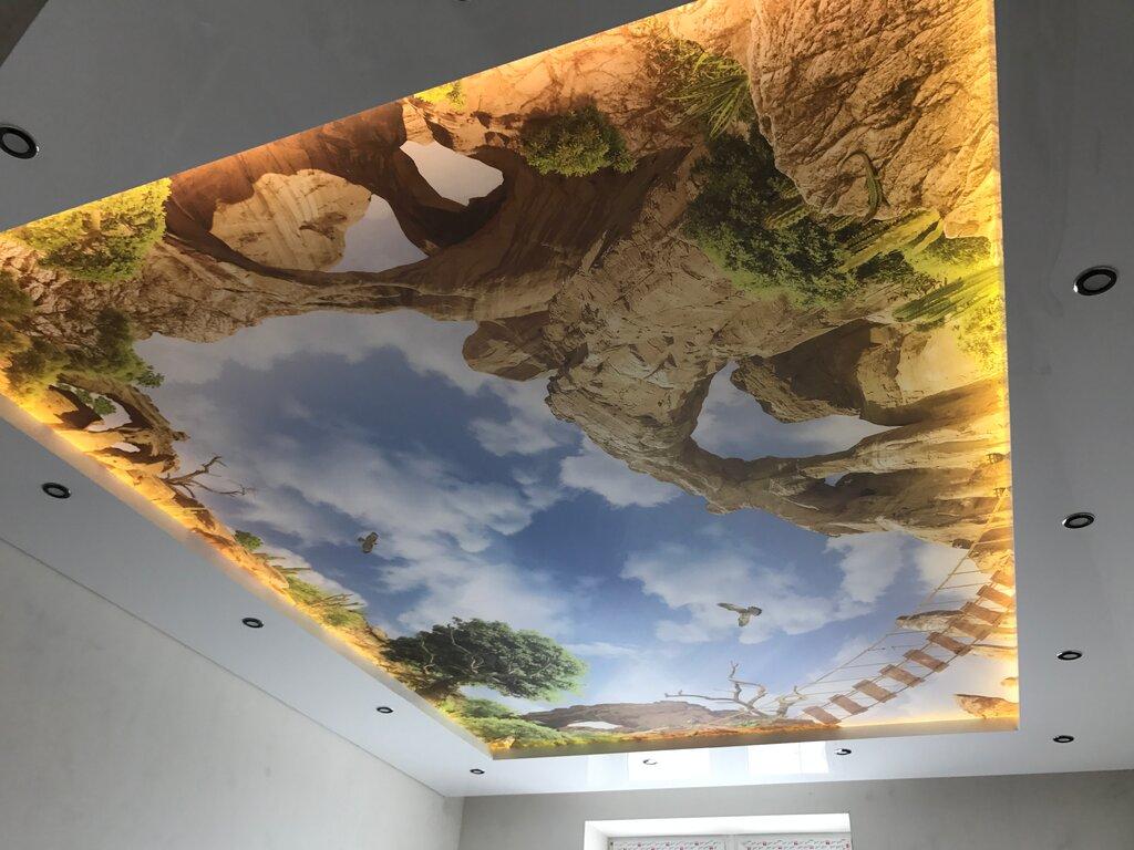 существуют тканевые натяжные потолки с фотопечатью тесто получается
