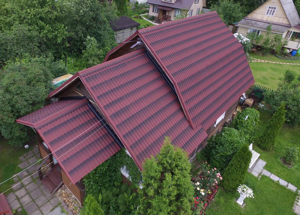 ондулин черепица фото домов