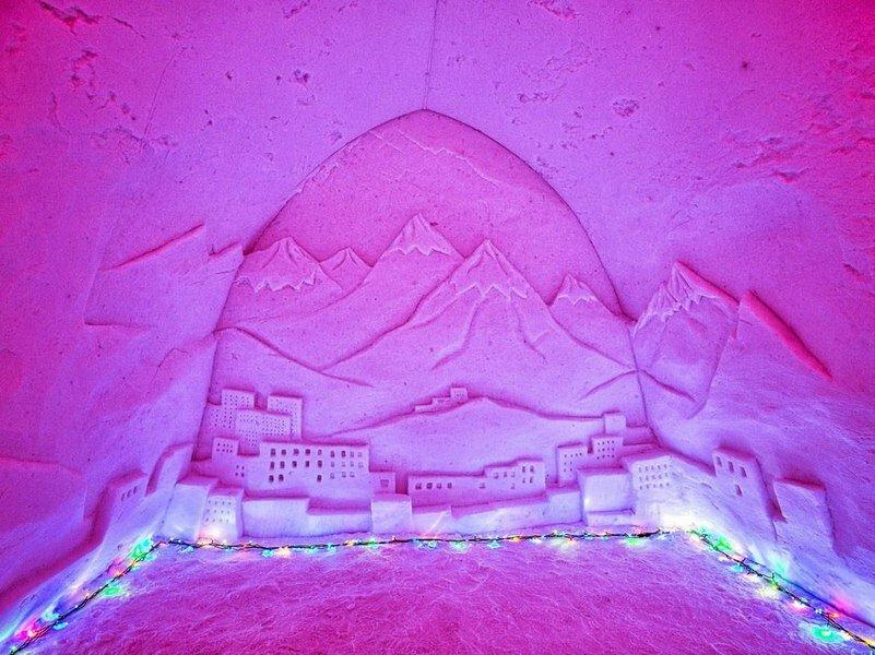 Снежная деревня кировск картинки