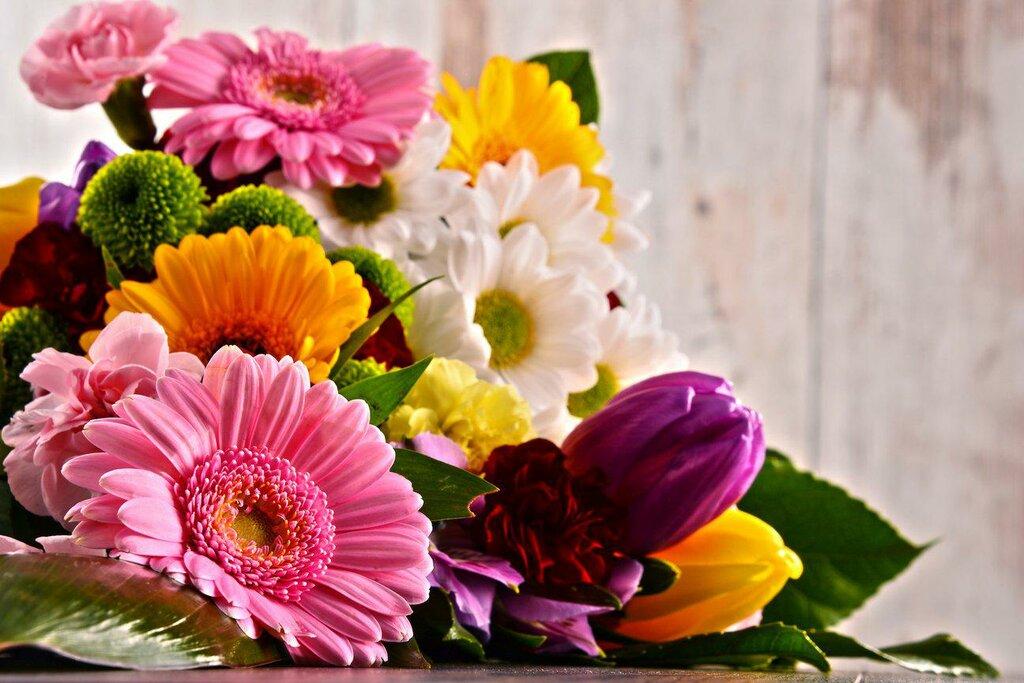 Дню рождению, картинка с днем учителя с цветами