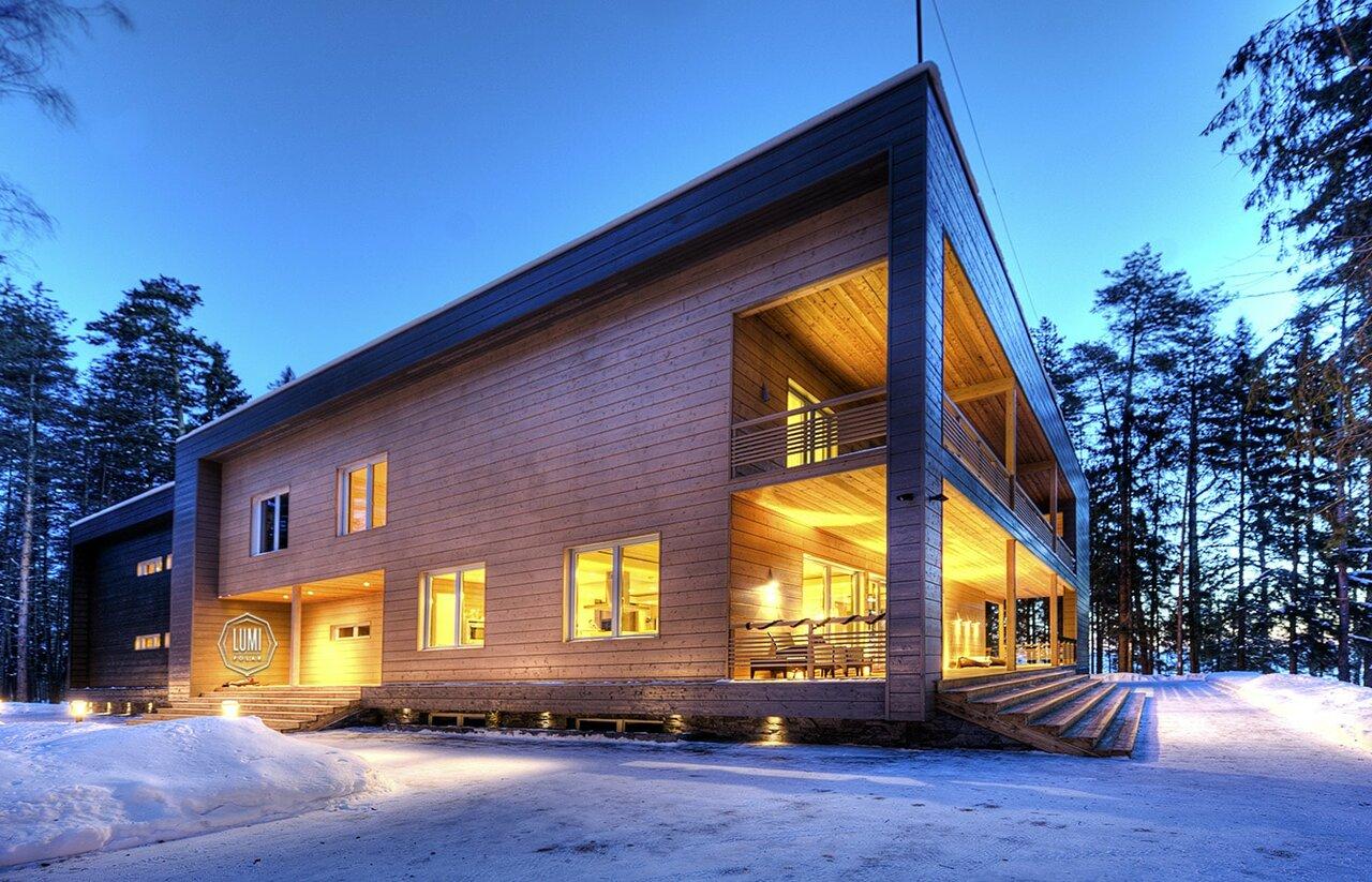Загородные дома и коттеджи фото в финляндию дизайна штор