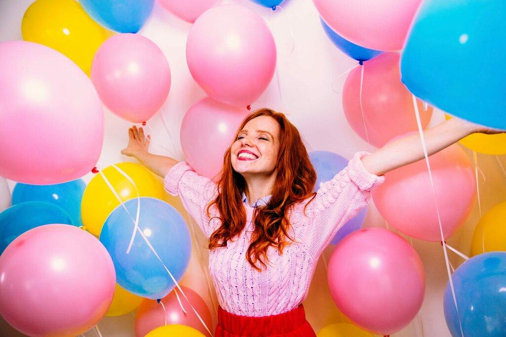 Фото с шарами, день рождения