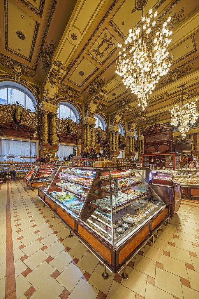 Картинки елисеевского магазина в москве вопросом