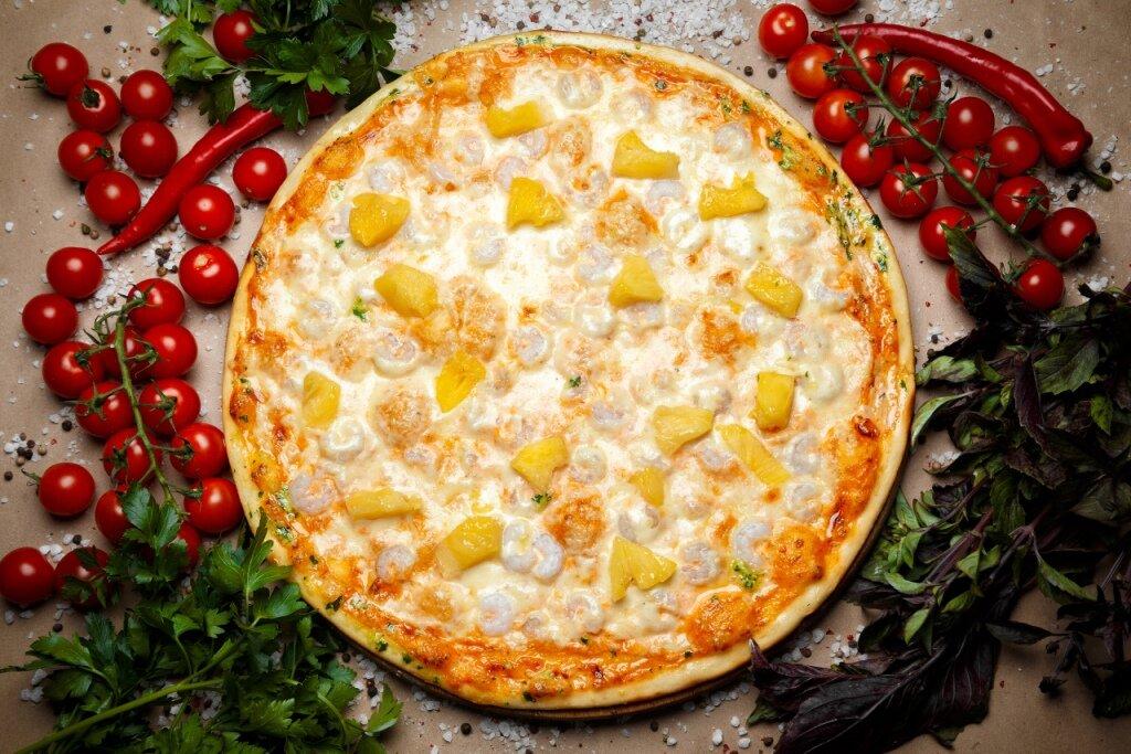 Картинки пицца с ананасами