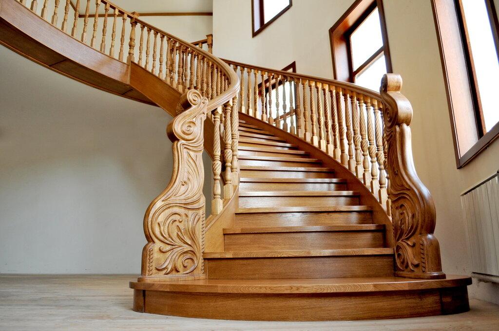 дубовые лестницы фото для каждой комнаты